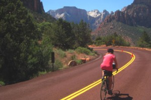 Bicycle Adventures - Bryce & Zion bike tours :: Our 4-day all-inclusive cycle tours combine daily riding, excellent lodging, most meals and exceptional guides. Also in Crater Lake, Columbia River Gorge & Hells Canyon.