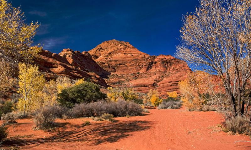 Red Cliffs Recreation Area near St Geroge
