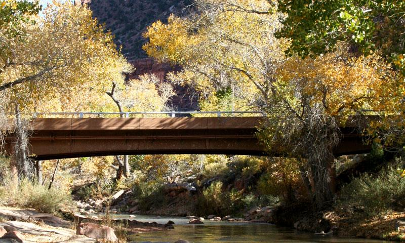 Bridge over the Virgin River in Zion National Park