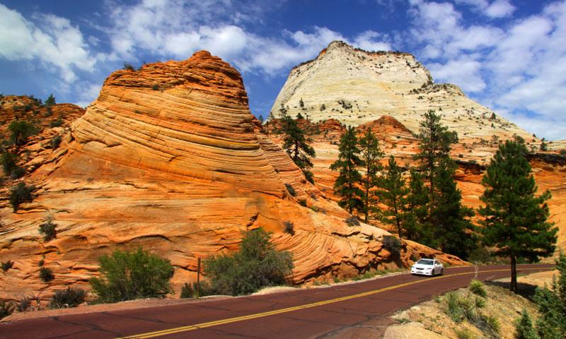Scenic Drive through Zion National Park