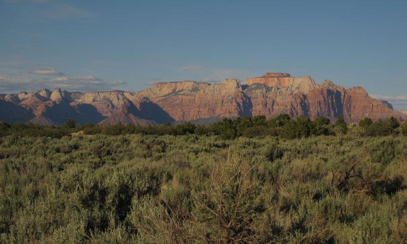 Looking to Zion National Park from Gooseberry Mesa
