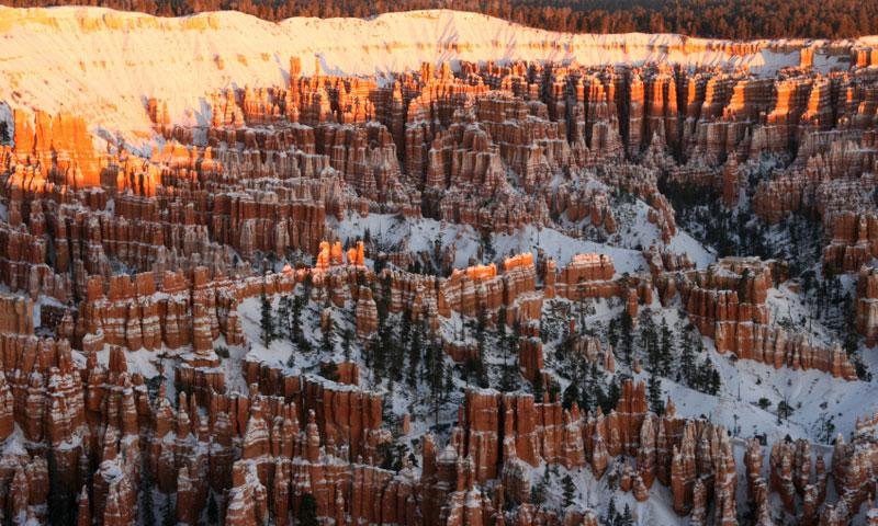 Overlooking Bryce Canyon National Park in Winter