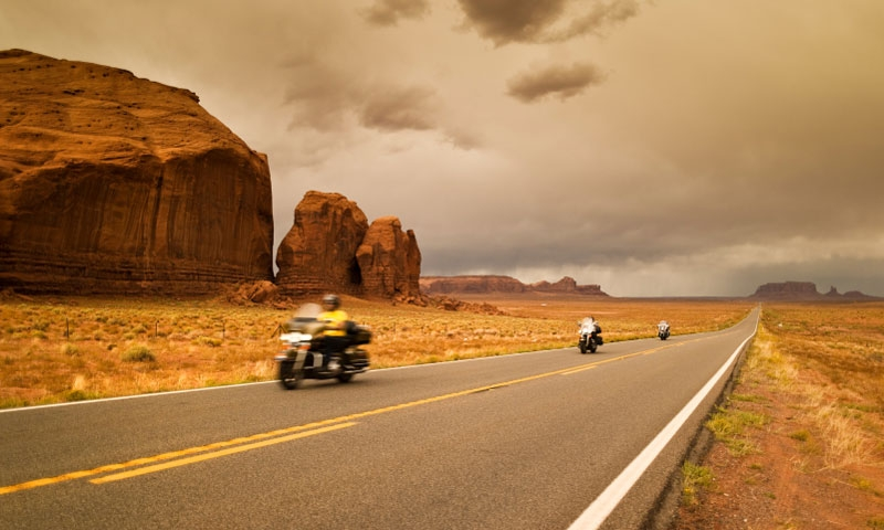 Motorcycle Tour through Monument Valley