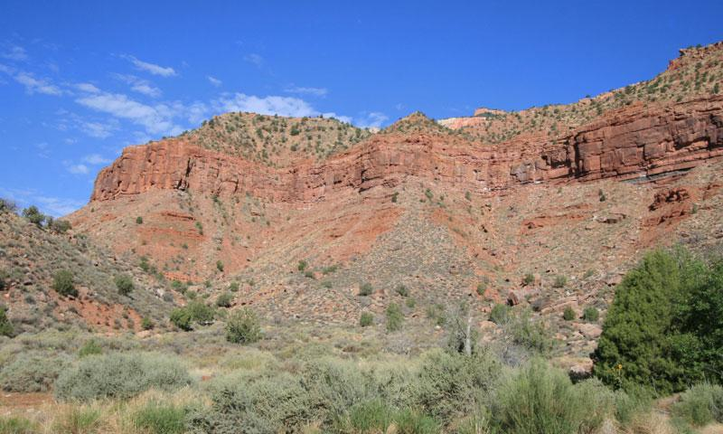 Near Mount Carmel Junction on the east side of Zion National Park