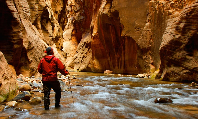 Hiking the Zion Narrows of the Virgin River