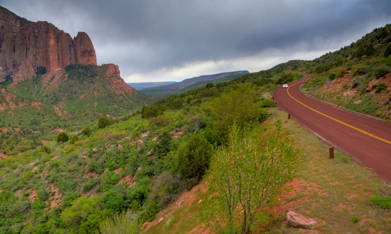 Scenic Drive through Kolob Canyons of Zion National Park