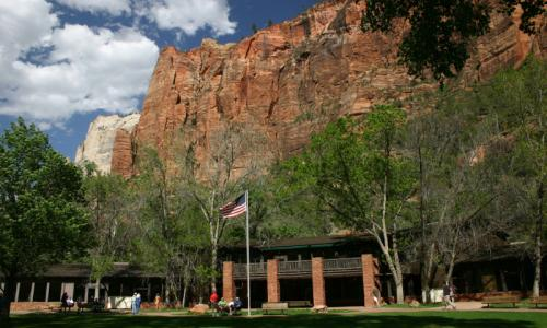 Zion lodge national park hotel alltrips for Cabin zion national park