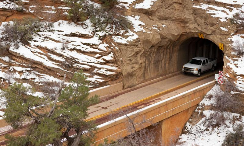 The East Zion Tunnel in Zion National Park