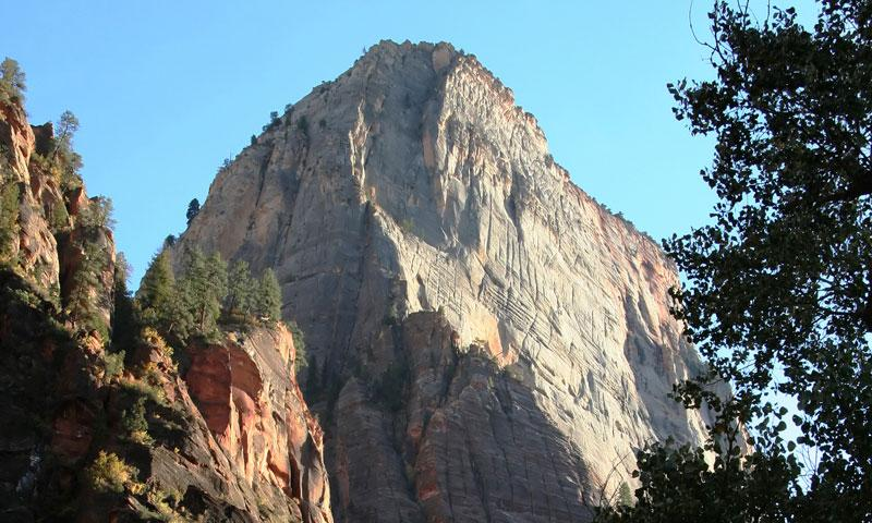 The Great White Throne in Zion National Park