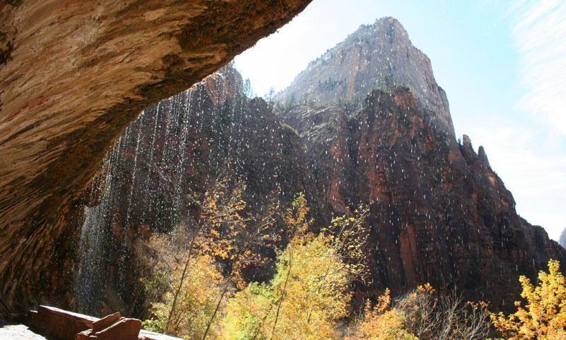 Viewpoint at Weeping Rock in Zion