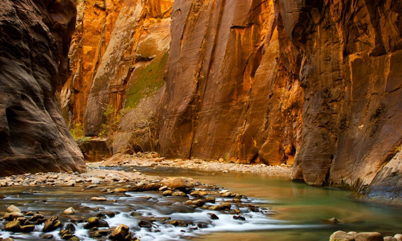 The Zion Narrows of the Virgin River